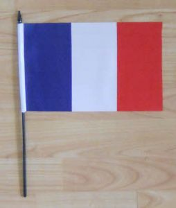 France Country Hand Flag - Medium.